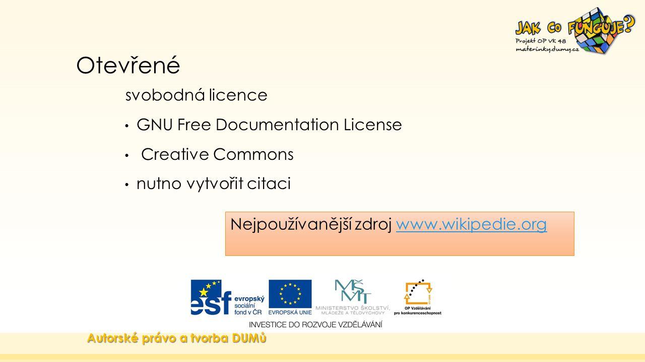 Otevřené svobodná licence GNU Free Documentation License