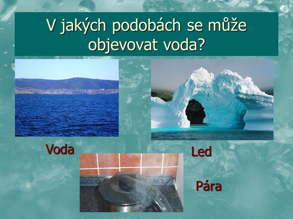 V jakých podobách se může objevovat voda