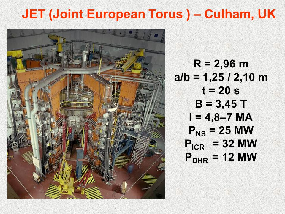 JET (Joint European Torus ) – Culham, UK