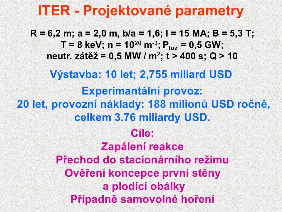 ITER - Projektované parametry