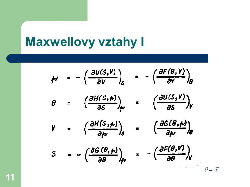 Maxwellovy vztahy I q = T