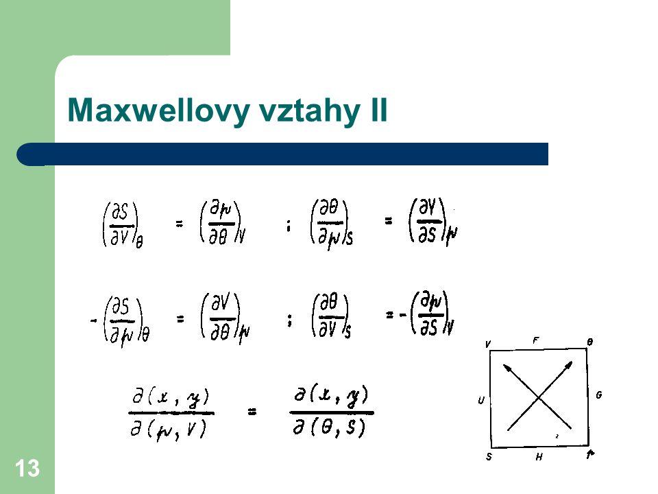 Maxwellovy vztahy II