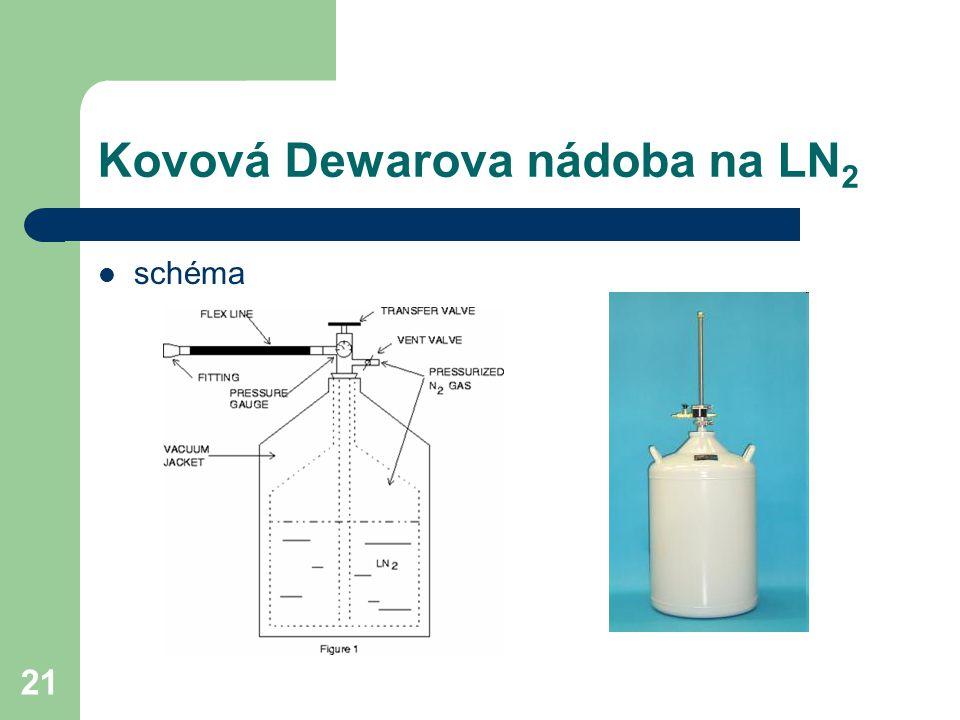 Kovová Dewarova nádoba na LN2