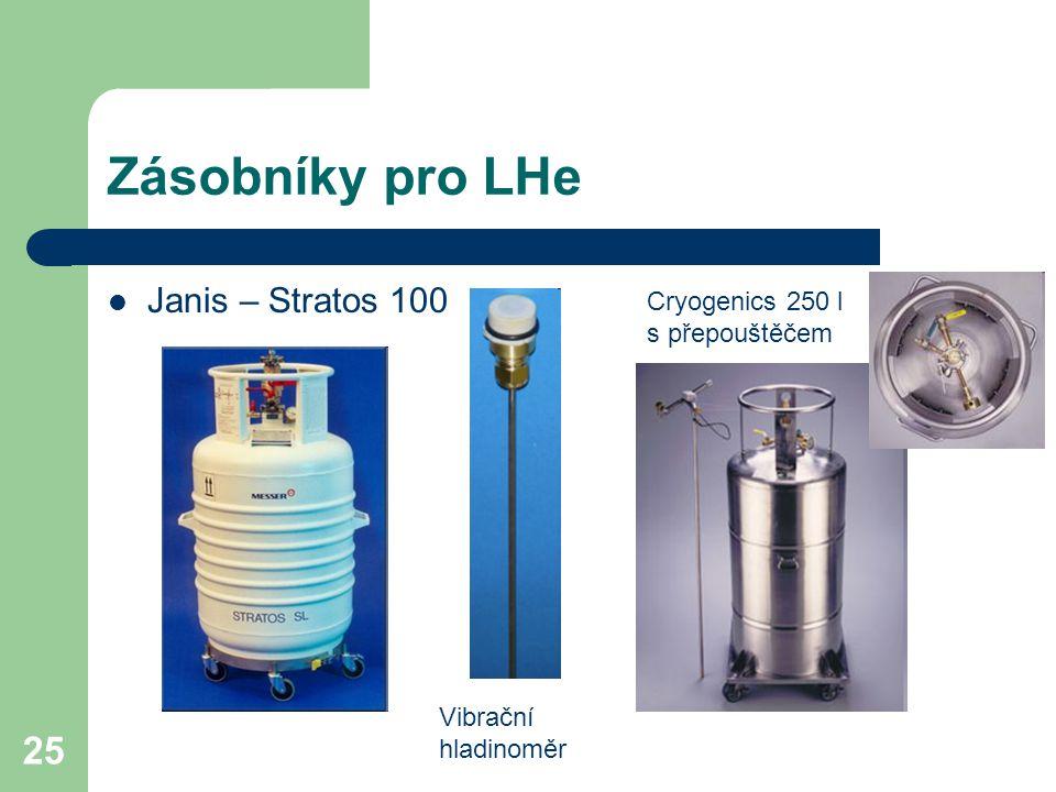 Zásobníky pro LHe Janis – Stratos 100 Cryogenics 250 l s přepouštěčem
