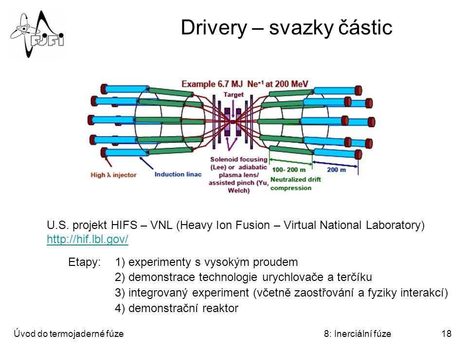 Drivery – svazky částic