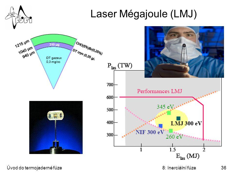Laser Mégajoule (LMJ) Úvod do termojaderné fúze 8: Inerciální fúze
