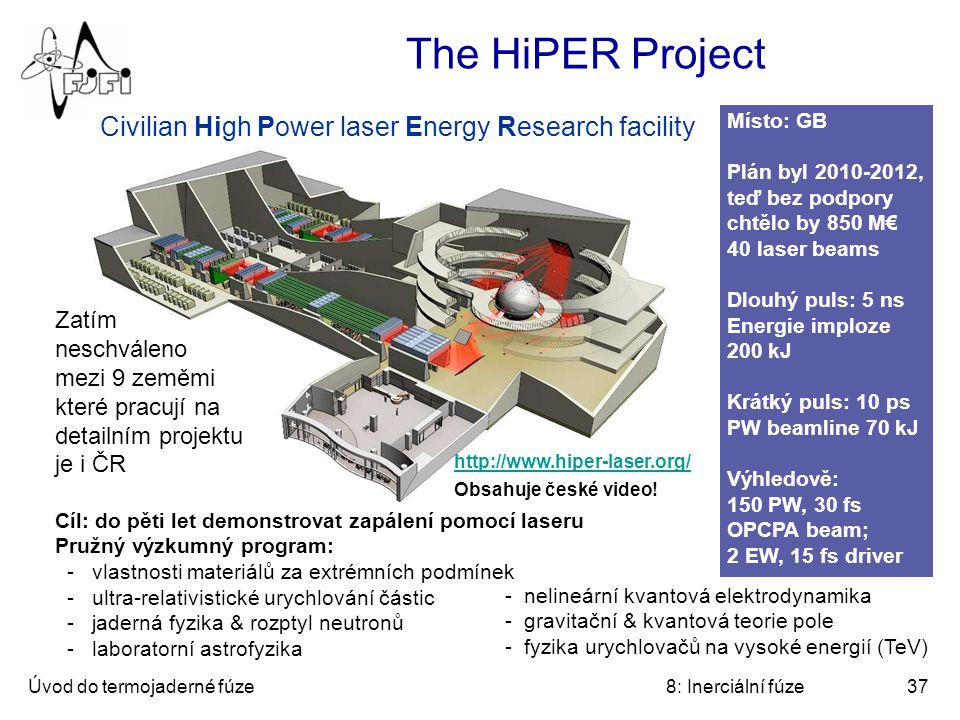 The HiPER Project Civilian High Power laser Energy Research facility