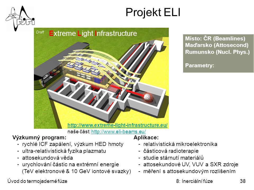 Projekt ELI Extreme Light Infrastructure