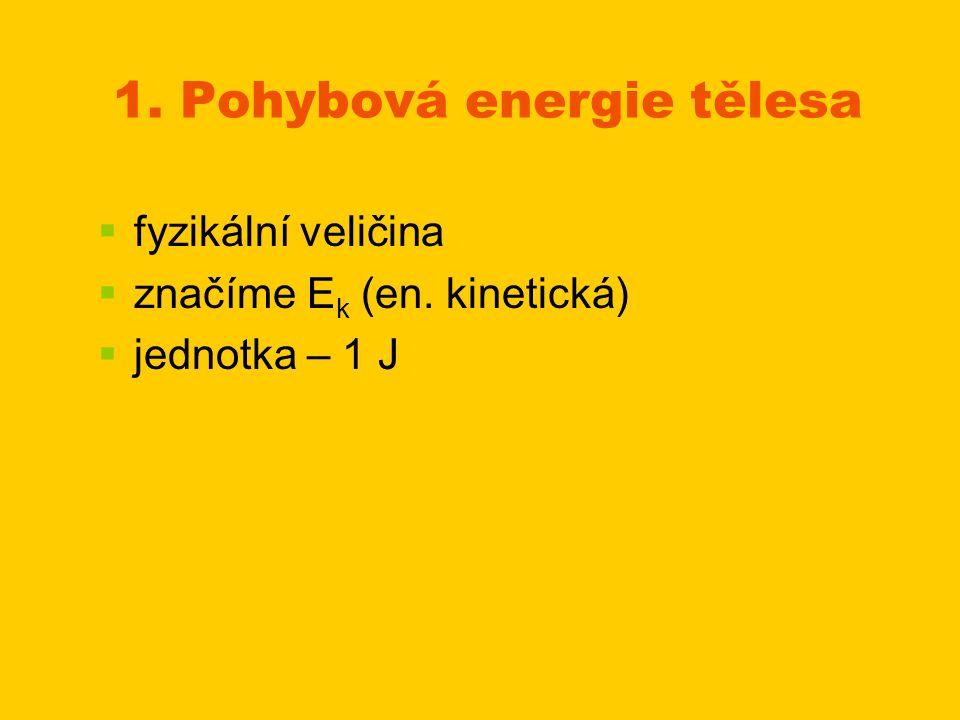 1. Pohybová energie tělesa