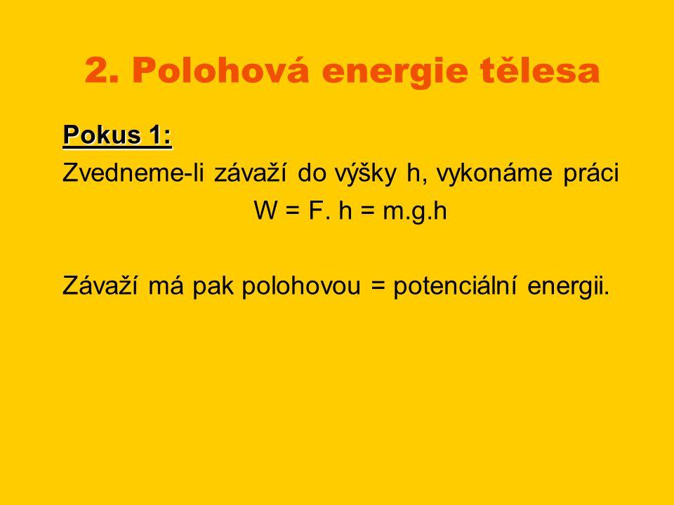 2. Polohová energie tělesa