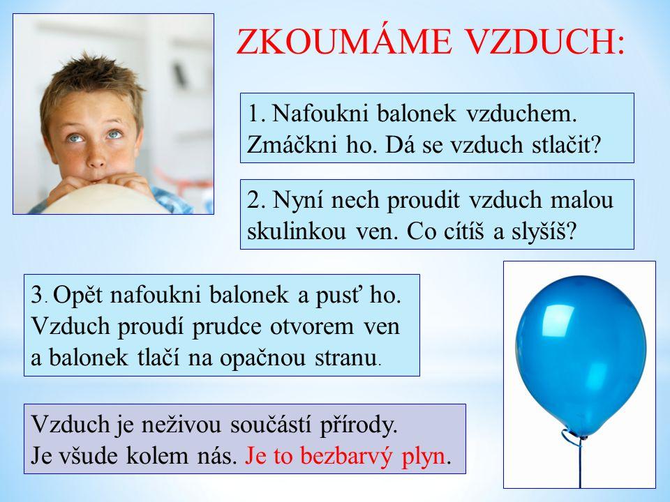 ZKOUMÁME VZDUCH: Nafoukni balonek vzduchem.