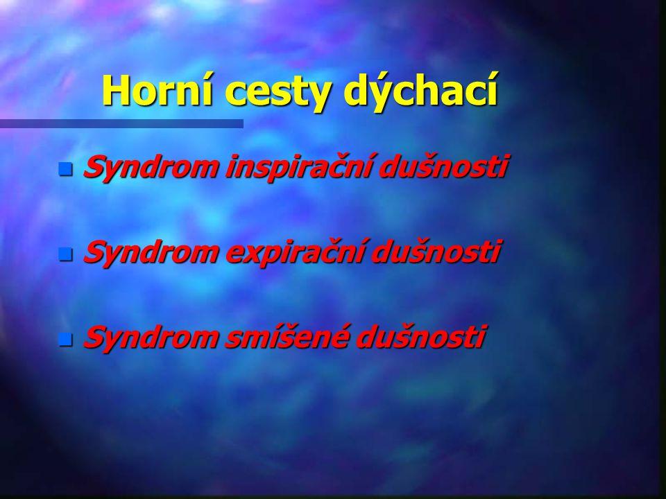 Horní cesty dýchací Syndrom inspirační dušnosti