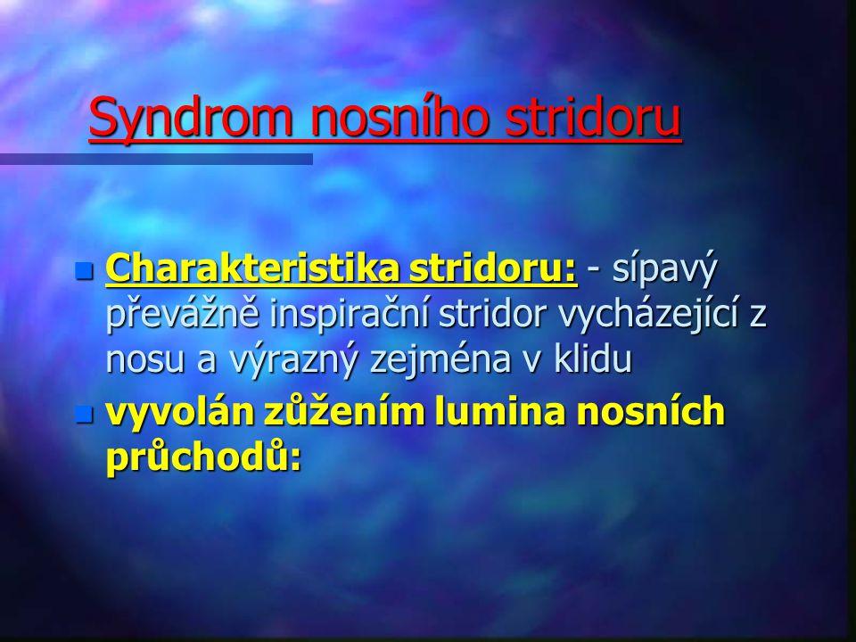 Syndrom nosního stridoru