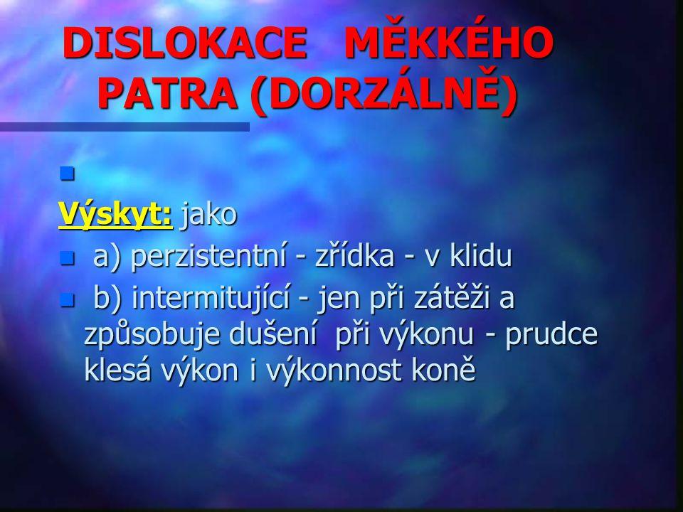 DISLOKACE MĚKKÉHO PATRA (DORZÁLNĚ)