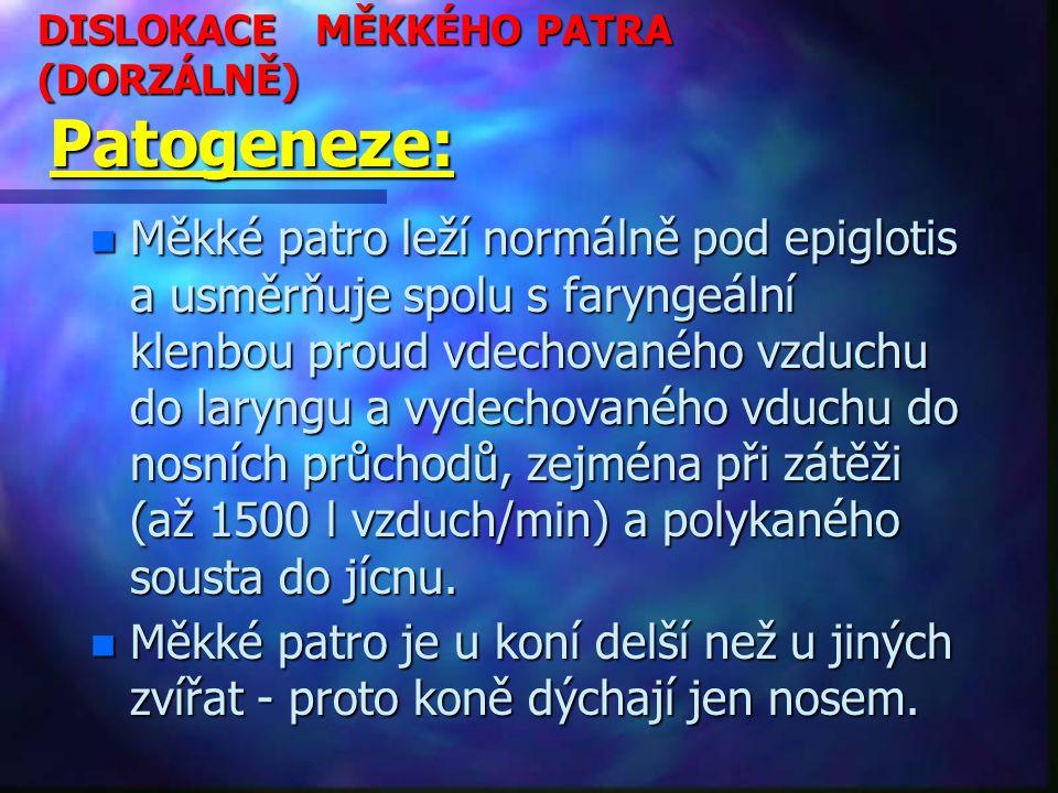 DISLOKACE MĚKKÉHO PATRA (DORZÁLNĚ) Patogeneze:
