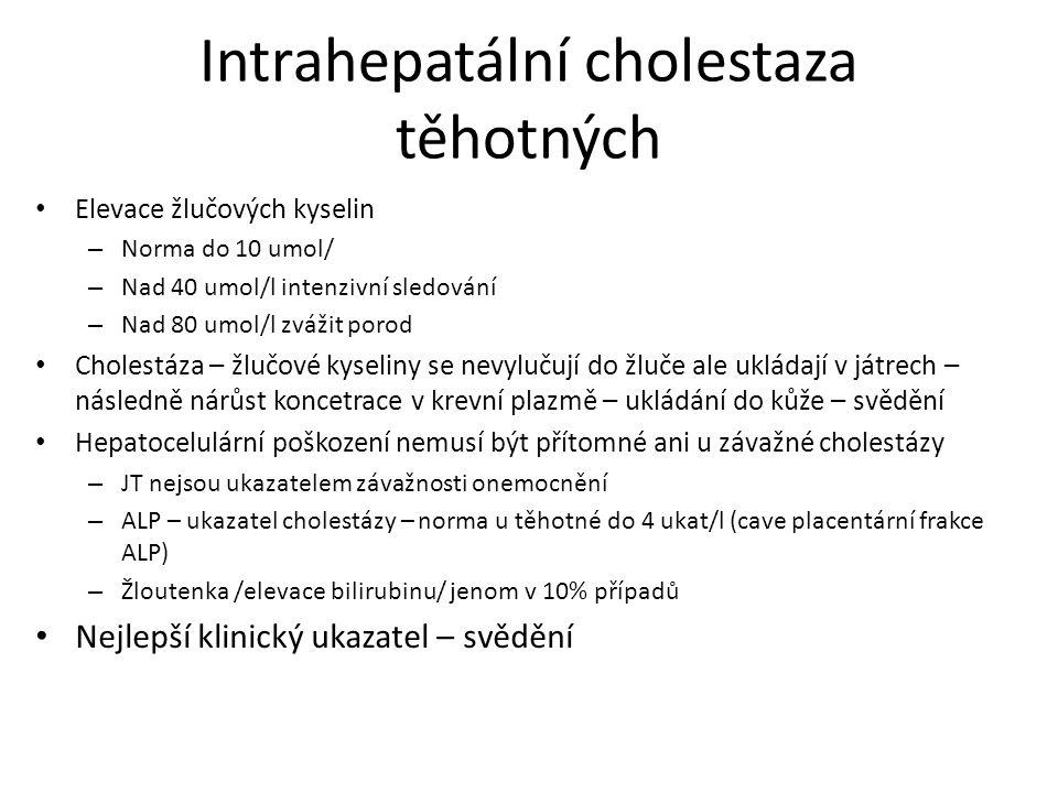 Intrahepatální cholestaza těhotných