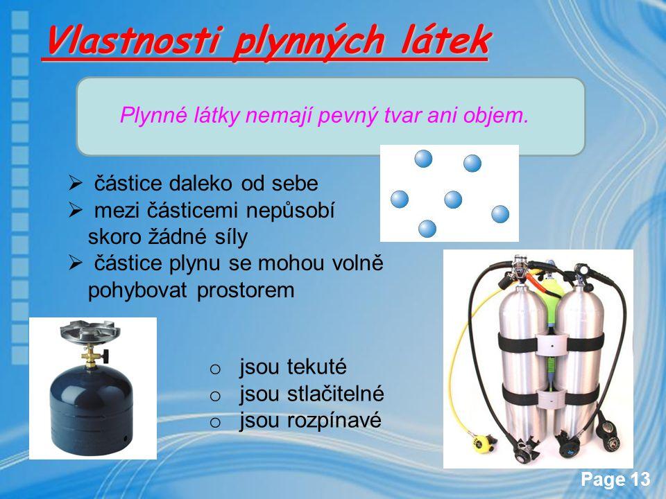 Vlastnosti plynných látek