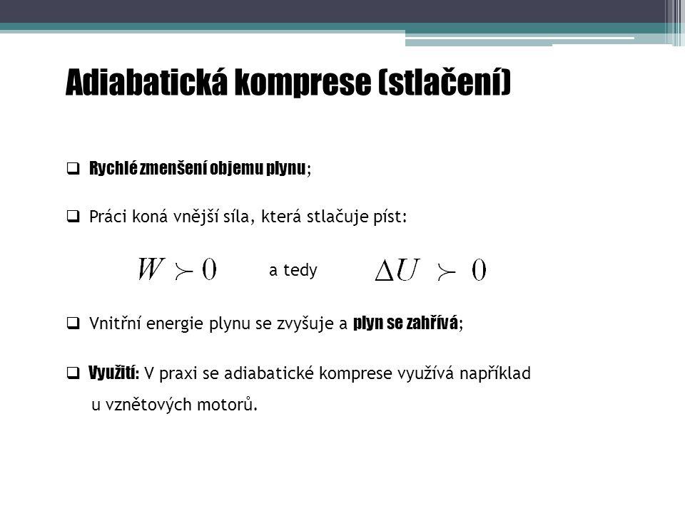 Adiabatická komprese (stlačení)