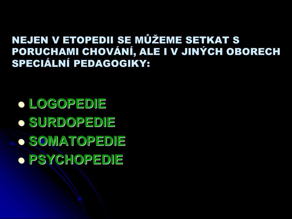 LOGOPEDIE SURDOPEDIE SOMATOPEDIE PSYCHOPEDIE