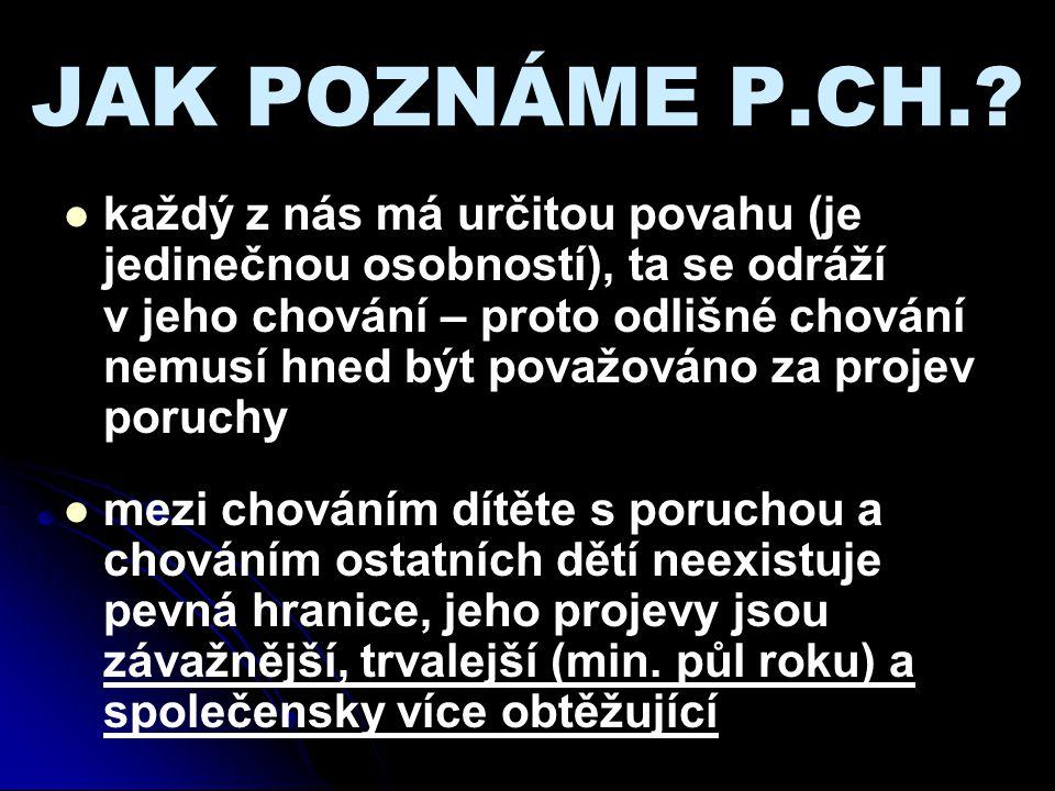 JAK POZNÁME P.CH.