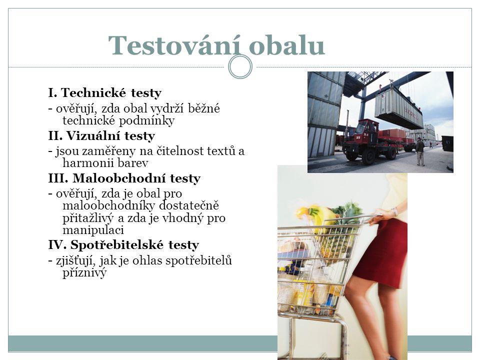 Testování obalu I. Technické testy