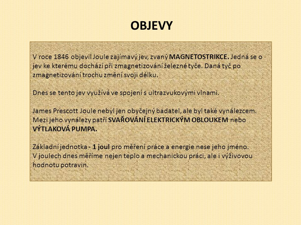 OBJEVY