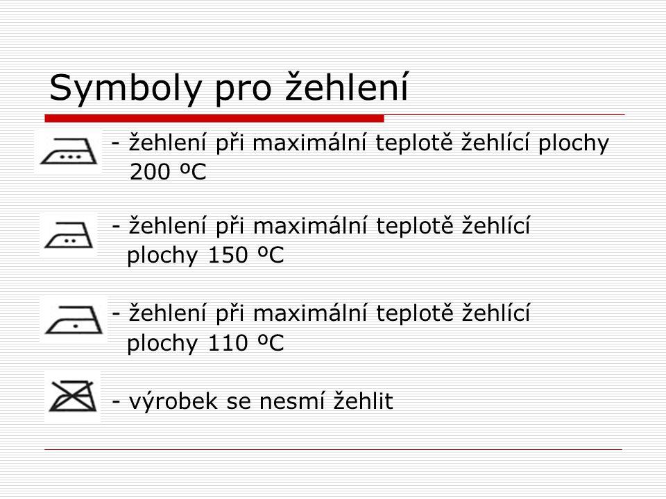 Symboly pro žehlení 200 ºC - žehlení při maximální teplotě žehlící