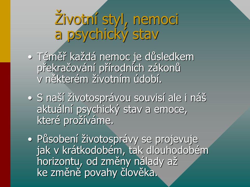 Životní styl, nemoci a psychický stav