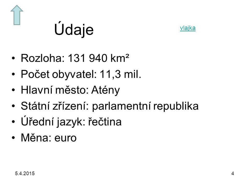 Údaje Rozloha: 131 940 km² Počet obyvatel: 11,3 mil.