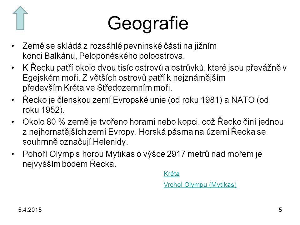 Geografie Země se skládá z rozsáhlé pevninské části na jižním konci Balkánu, Peloponéského poloostrova.