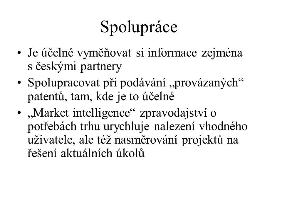 Spolupráce Je účelné vyměňovat si informace zejména s českými partnery