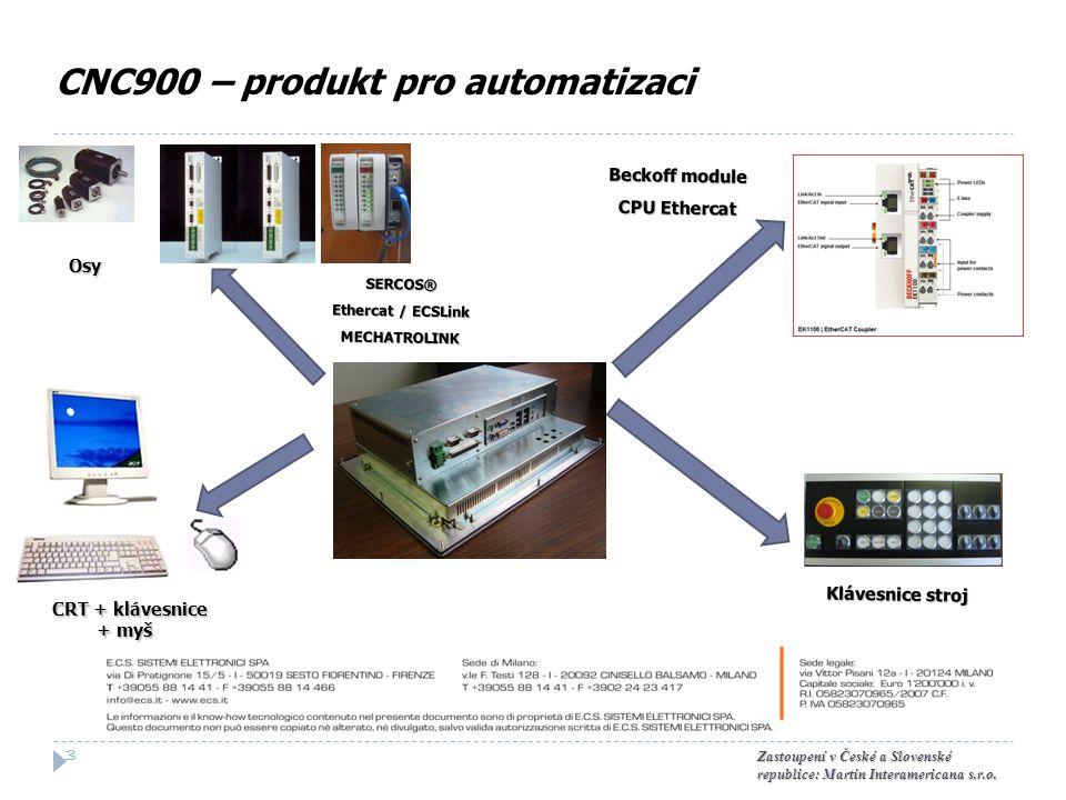 CNC900 – produkt pro automatizaci