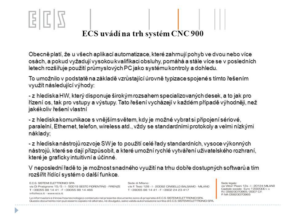 ECS uvádí na trh systém CNC 900