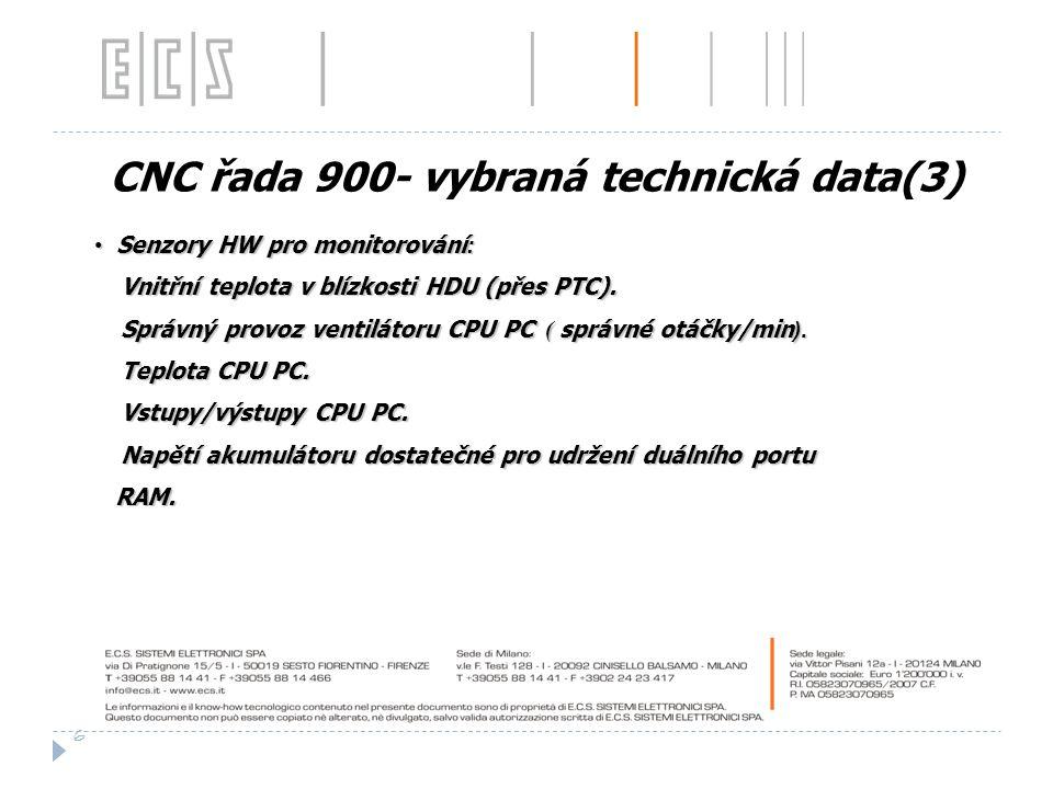 CNC řada 900- vybraná technická data(3)