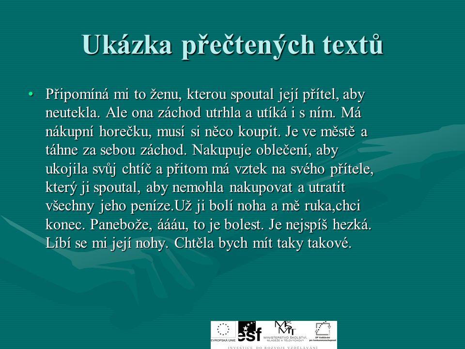 Ukázka přečtených textů