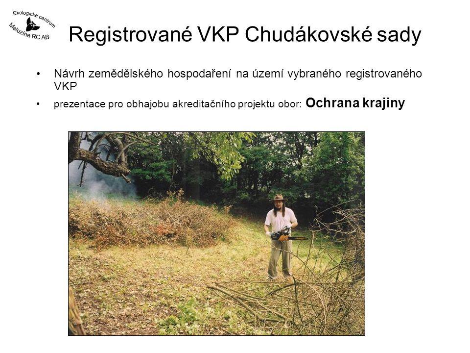 Registrované VKP Chudákovské sady