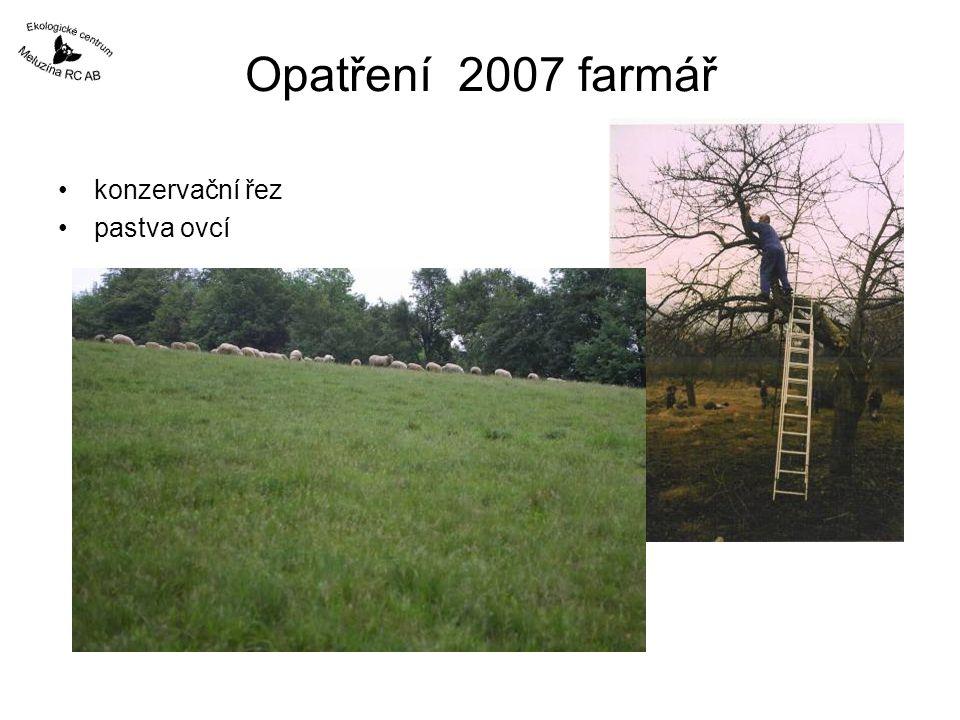 Opatření 2007 farmář konzervační řez pastva ovcí