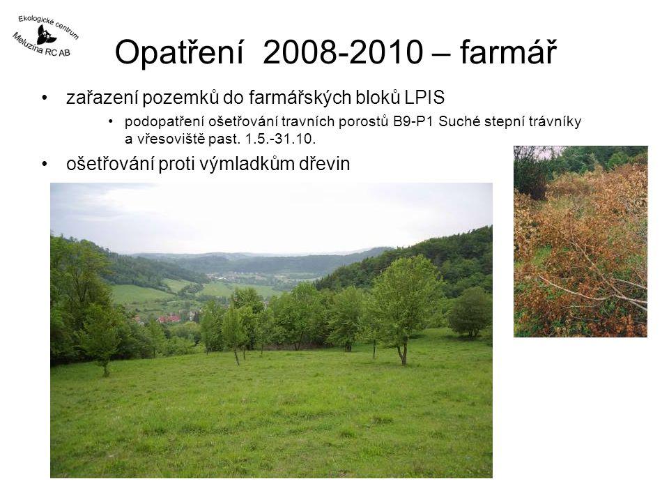 Opatření 2008-2010 – farmář zařazení pozemků do farmářských bloků LPIS