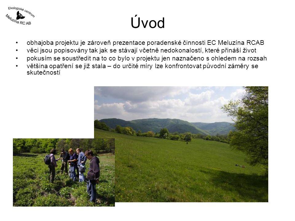 Úvod obhajoba projektu je zároveň prezentace poradenské činnosti EC Meluzína RCAB.