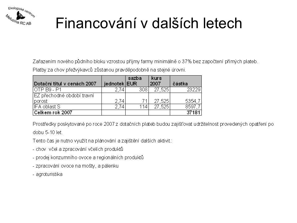Financování v dalších letech