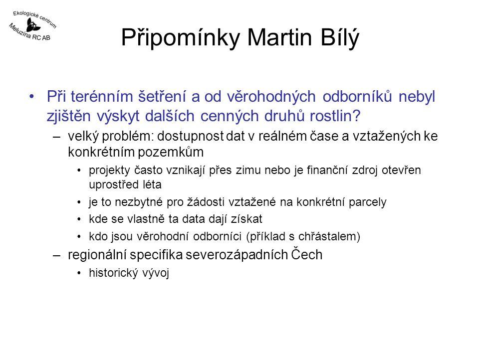 Připomínky Martin Bílý