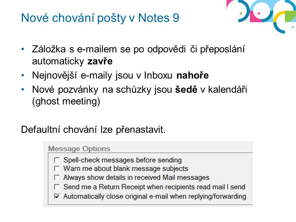 Nové chování pošty v Notes 9