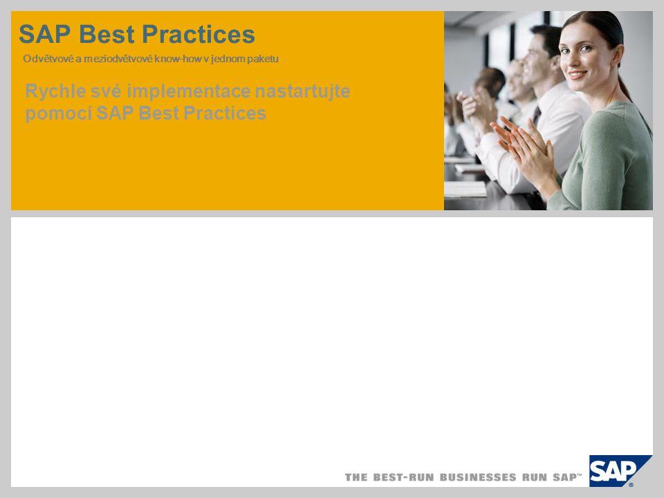 SAP Best Practices Odvětvové a meziodvětvové know-how v jednom paketu