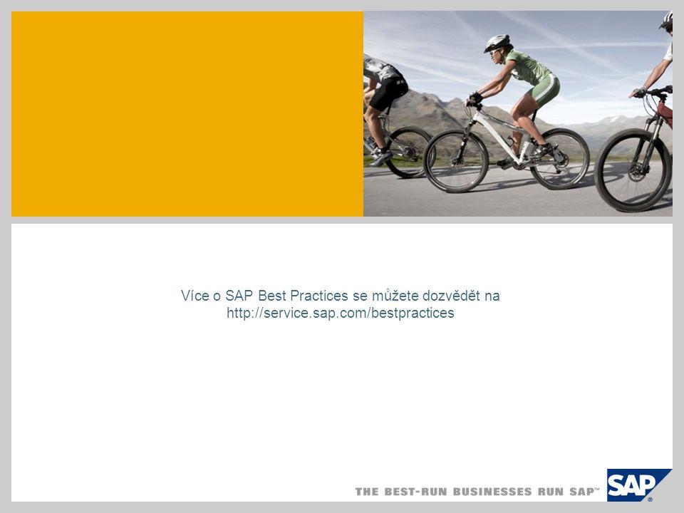 SAP TechEd '04 Více o SAP Best Practices se můžete dozvědět na http://service.sap.com/bestpractices.