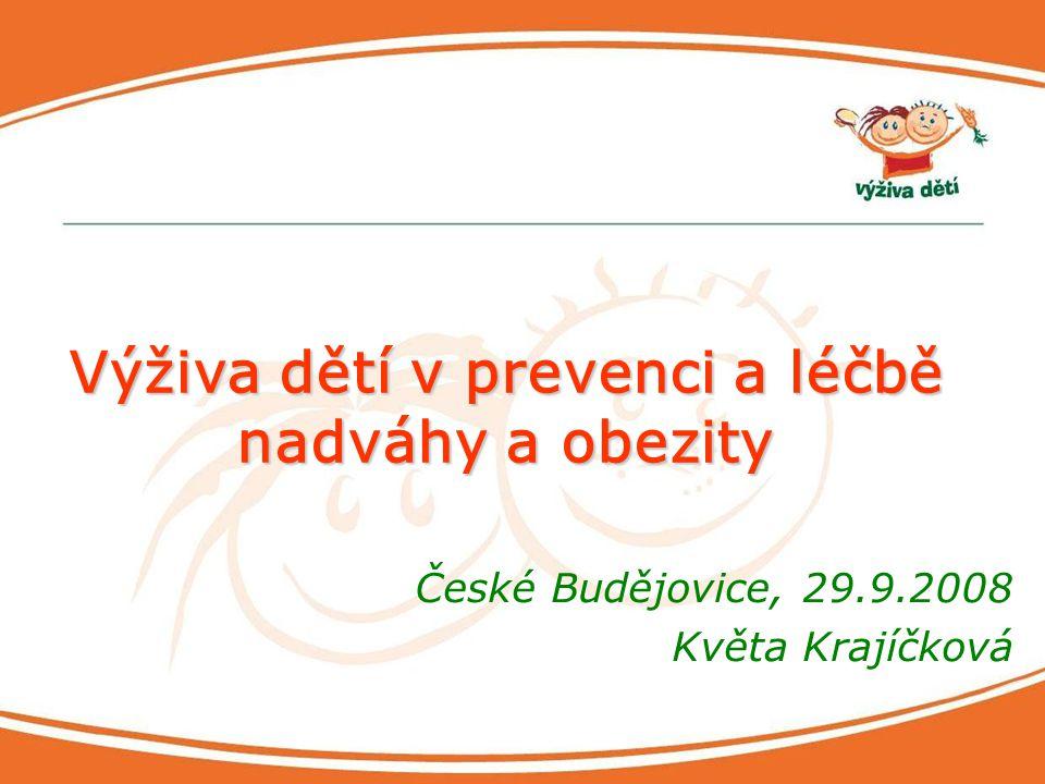 Výživa dětí v prevenci a léčbě nadváhy a obezity
