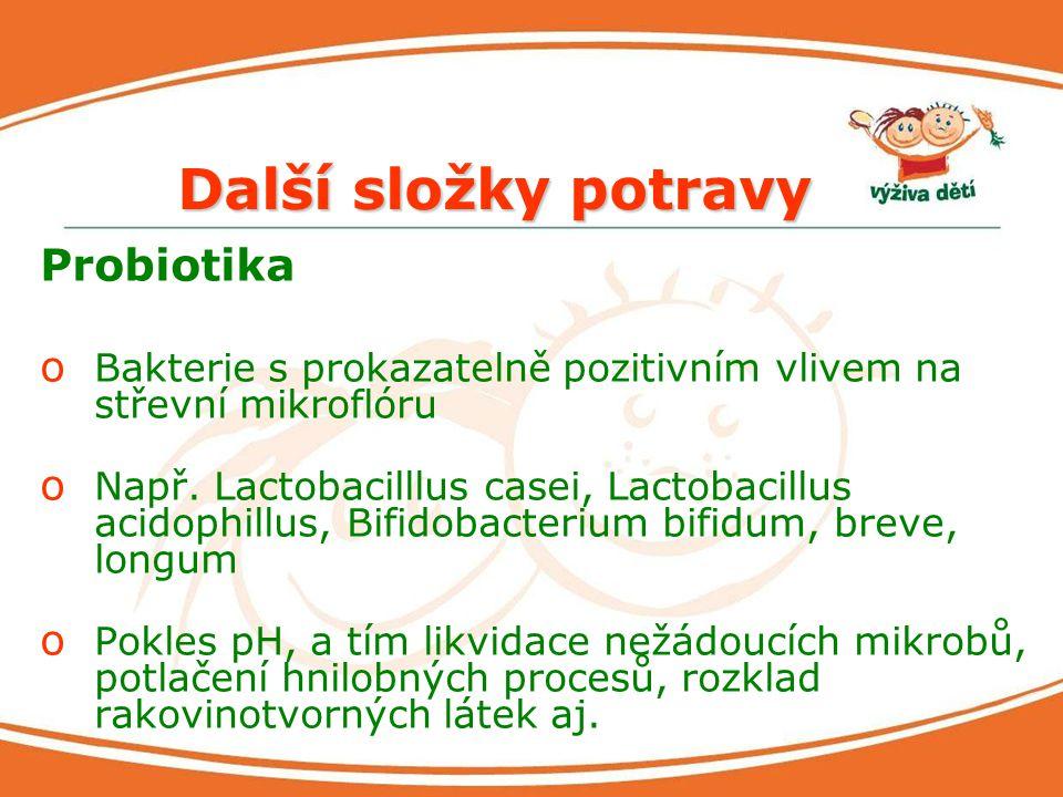 Další složky potravy Probiotika