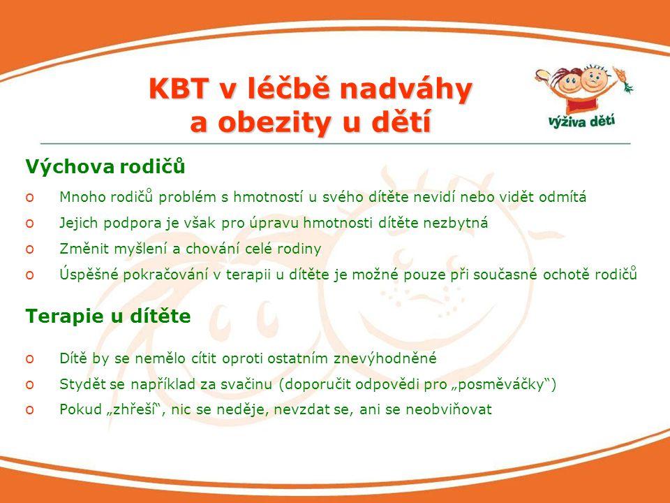 KBT v léčbě nadváhy a obezity u dětí