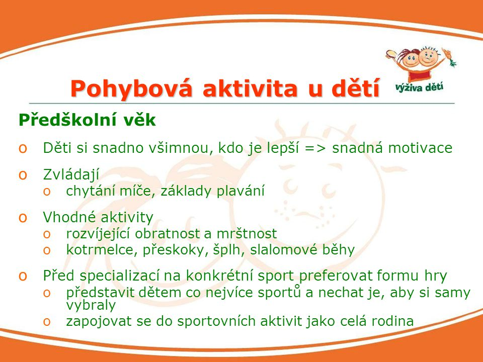 Pohybová aktivita u dětí