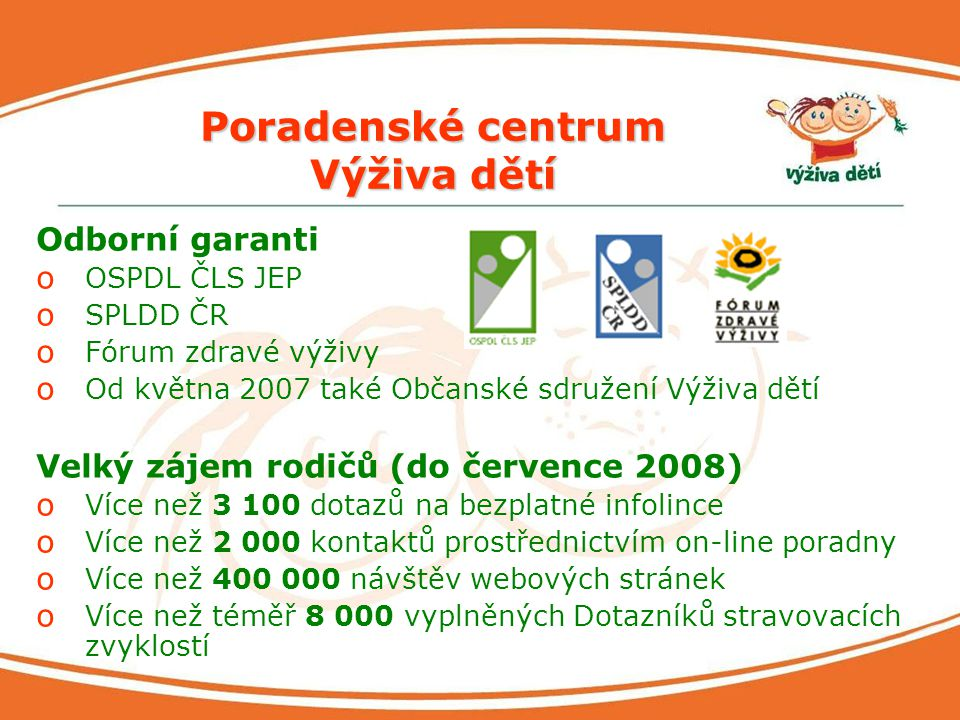 Poradenské centrum Výživa dětí