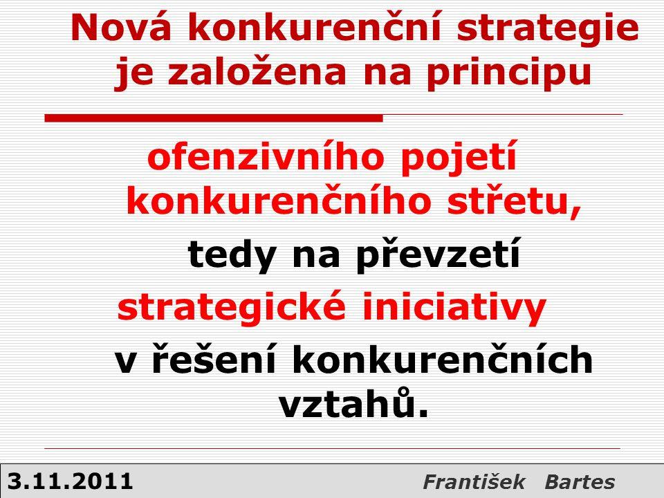 Nová konkurenční strategie je založena na principu